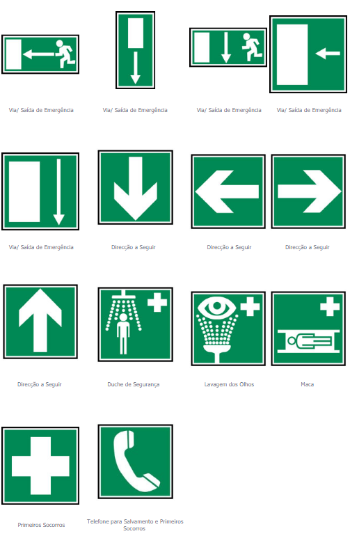 sinalização de segurança - Sinalização de emergência