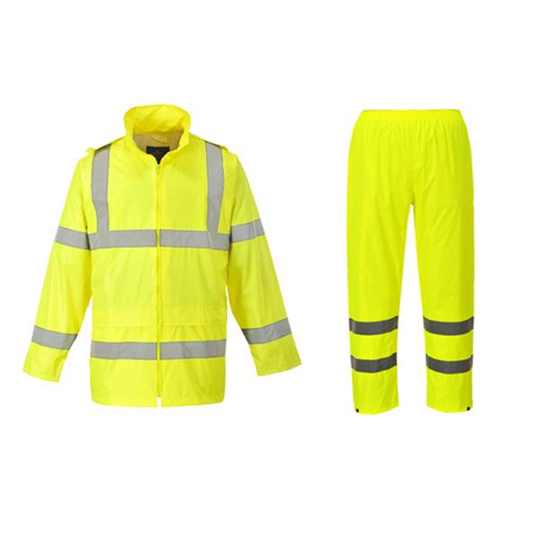 Calças e casaco refletores para proteção extra