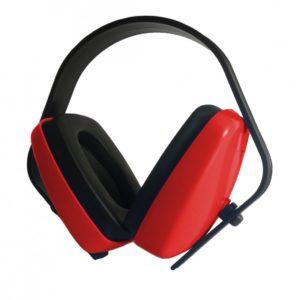 Auriculares de cabeça vermelhos